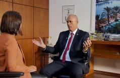 Yossi Shelley, embaixador de Israel, durante entrevista ao programa Impressões, que irá ao ar hoje   (TV Brasil)