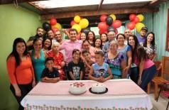 Marçal, Vanessa, Vinicius, dona Sebastiana Vieira da Silva e sua família - Foto: 94FM