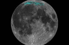 As novas características da superfície (delineadas) da Lua, numa região chamada Mare Frigoris - Foto: NASA/AFP / HO