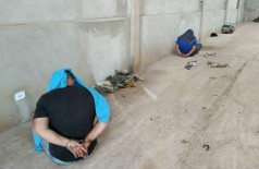 Três homens foram presos no local (Foto: Sidnei Bronka)