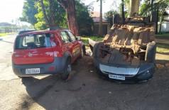 Acidente na  na Rua Olinda Pires de Almeida com Antônio do Amaral, na Vila Tonani - Foto: Sidnei Bronka