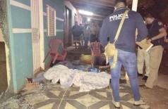 Polícia no local do crime na madrugada desta quarta-feira - Foto: Porã News