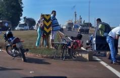 Acidente no Trevo do DOF na segunda-feira (20), por volta das 13h30 -  - Foto: divulgação