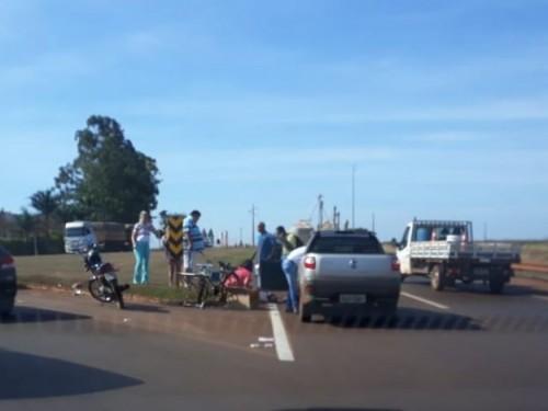 Acidente no Trevo do DOF na segunda-feira (20), por volta das 13h30  -Foto: divulgação