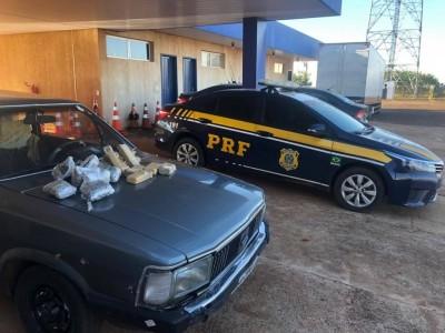Droga era transportada escondida em veículo (Foto: 94FM)