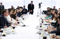 Presidente Jair Bolsonaro recebeu jornalistas para um café da manhã no Planalto - Marcos Corrêa/PR