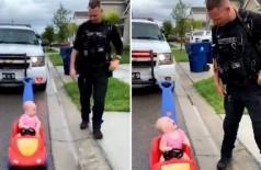 Policial para a jovem infratora Foto: Reprodução/Twitter(Orlando Police @OrlandoPolice)