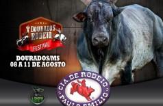 Dourados Rodeio Festival será realizado no Parque de Exposições de Dourados de 8 a 11 de agosto (Foto: Divulgação)