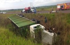 O acidente aconteceu na BR-463, próximo ao Rio Dourados - Fotos: Antonio Coca