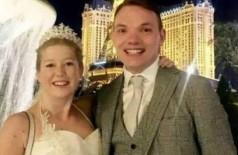 Sarah e Paul na lua de mel em Vegas (Foto: Reprodução)