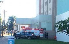 Homem foi morto a tiros por policial no cinema de Dourados (Foto: 94FM)