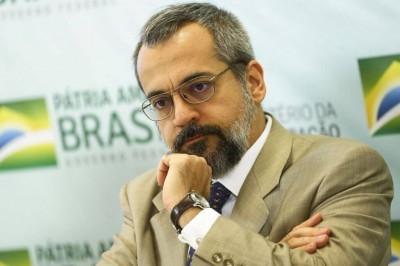 O ministro da Educação, Abraham Weintraub, durante apresentação do Compromisso Nacional pela Educação Básica (Foto: Marcelo Camargo/Agência Brasil)