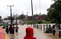 Rompimento de barragem na Bahia - Divulgação/Corpo de Bombeiros de Paulo Afonso
