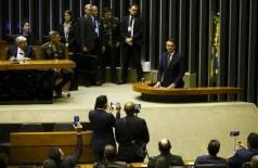 Presidente participou hoje de sessão solene na Câmara (Foto: Marcelo Camargo/Agência Brasil)