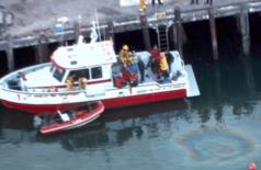 Área onde carro de Ali Elmezayen caiu no mar com os filhos (Twitter 48 Hours/Reprodução)