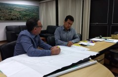 Presidente da Agesul, Luis Roberto, em audiência com o deputado Marçal Filho