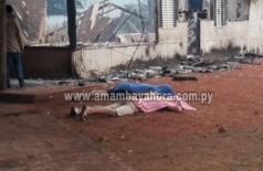 Homens foram encontrados mortos, casas e carros queimados (Foto: Amambay ahora)