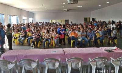 Servidores participam de assembleia sede do Sinsemd  - Foto: Marco Aurélio, vice-presidente do Sindracse