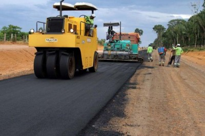 Empresa fazia manutenção das malhas pavimentadas e não pavimentadas do Anel Viário Norte de Dourados (Foto: Divulgação/MPT-MS)