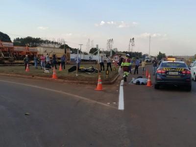 O acidente aconteceu na BR-163, próximo da PRF - Foto: Sidnei Bronka