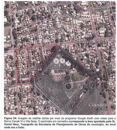 Parte de bairro construído sobre antigo lixão já passou por perícia que encontrou gás metano (Foto: Reprodução)