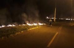 Mais seco e quente do que a média, agosto teve série de incêndios em Dourados (Foto: André Bento)