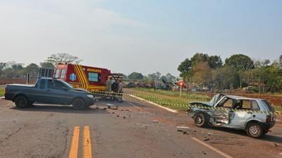 A vítima estava dirigindo um Fiat Uno - Foto: Washington Lima/Fátima em DiaIA