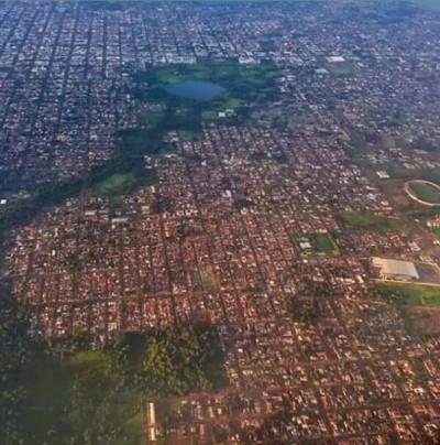 Umidade relativa do ar atingiu nível de alerta por riscos à saúde humana  (Foto: Reprodução/Aviação Regional de Dourados)