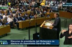 Assista à íntegra do discurso de Bolsonaro na Assembleia Geral da ONU