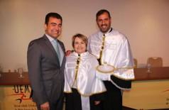 Deputado Marçal com o reitor Laércio de Carvalho e a vice-reitora Celi Corrêa Neres - Foto: divulgação