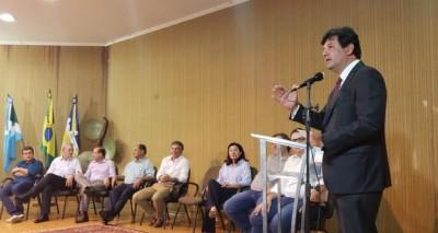 Ministro Mandetta durante encontro em Dourados - Renato Strauss / ASOM MS