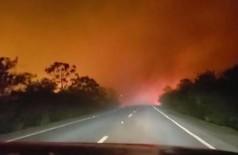 Queimadas voltam a fechar estrada e PRF alerta para acidentes (Foto: reprodução/Facebook)