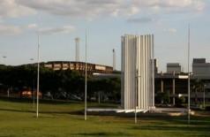 Monumento símbolo da Universidade Federal de Mato Grosso do Sul (Foto: Divulgação/MPF-MS)