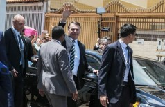 O presidente Jair Bolsonaro durante visita a Ceilândia (Foto: Antonio Cruz/Agência Brasil)