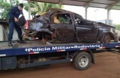 Veículo ficou totalmente destruído - Foto: PMR
