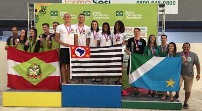 MS fatura mais três bronzes na natação nos Jogos Escolares da Juventude (Foto: reprodução)