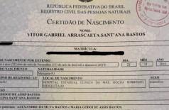 Pai registra filho em cartório como 'Gabriel Arrascaeta' após título do Flamengo na Libertadores (Foto: reprodução)