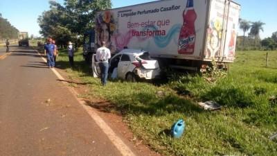 Acidente ocorreu em rodovia entre Antônio João e Ponta Porã - Foto: Divulgação