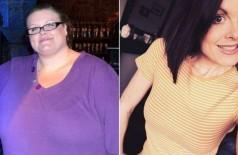 Danielle Wright antes e depois de perder 90 quilos - Foto: Reprodução