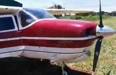Aeronave seria usada por narcotraficantes (Foto: Divulgação/Porã News)