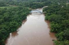 Imagem aérea do Rio Miranda, onde o corpo foi encontrado. (Foto: Divulgação).
