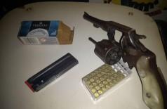 Armas e munições apreendidas - Foto: DOF