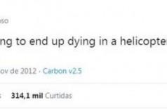 Tuíte de 2012 'previu' que Kobe Bryant morreria em queda de helicóptero (Foto: reprodução)