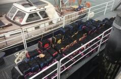 A droga estava a bordo de um veleiro interceptado no Arquipélago dos Açores, em Portugal (Foto: Divulgação/PF)