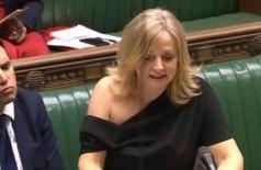 Tracy Brabin em discurso no Parlamento britânico - Foto: Reprodução/House of Commons