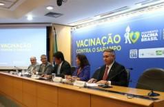 Ministério da Saúde lança a Campanha Nacional de Vacinação contra o Sarampo com foco em pessoas de 5 a 19 anos (Foto: Erasmo Salomão / ASCOM MS)
