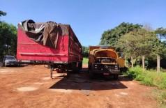 Vários caminhões e documentos foram apreendidos na operação - Foto: divulgação/PC