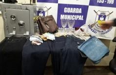 Objetos furtados de loja - Foto: divulgação/Guarda Municipal
