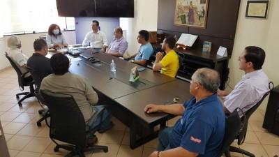 Reunião realizada no gabinete da prefeita Délia na manhã de hoje -Foto: Prefeitura de Dourados