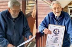 Robert Weighton, o homem mais velho do mundo, recebe certificado - Foto: Divulgação/Guinness World Records